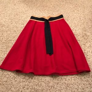 Girls from saroy Anthropologie red skirt size XS